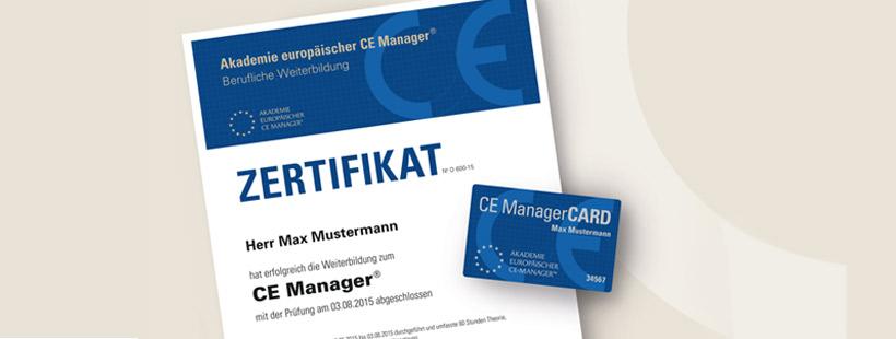 Seminar Zertifizierter CE Manager®